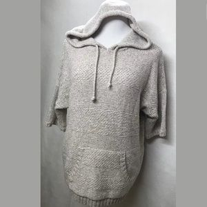 Coldwater Creek Cotton Knit Hooded Sweater